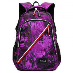 Striped Print Flower Backpack -