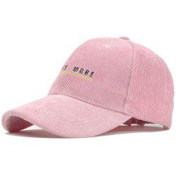Letter Embroidery Embellished Corduroy Baseball Hat -