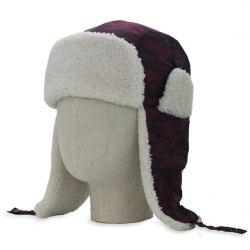 Outdoor Earmuff Embellished Waterproof Thicken Trapper Hat -