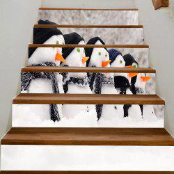 Christmas Snowman Reusable DIY Stair Stickers -