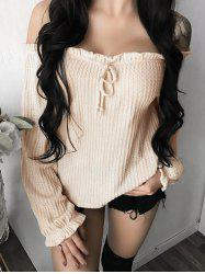 Off The Shoulder Ruffle Sleeve Top -
