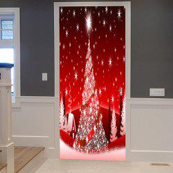 Christmas Stars Tree Pattern Door Art Stickers