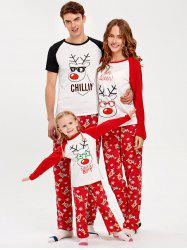 Deer Rudolph Matching Family Christmas Pajama Set -
