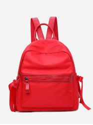 Front Zip Ribbon Backpack -
