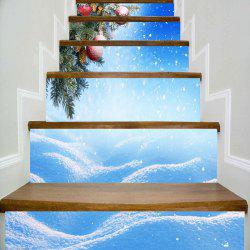 Snowy Christmas Printed Decorative DIY Stair Stickers -