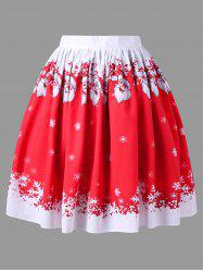 Christmas Plus Size Santa Claus Swing Skirt -