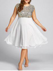 Flounce Plus Size Sparkly Sequin Cocktail Dress