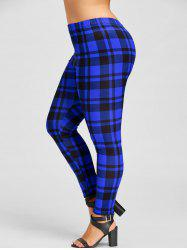 Plus Size Plaid Tight Leggings -