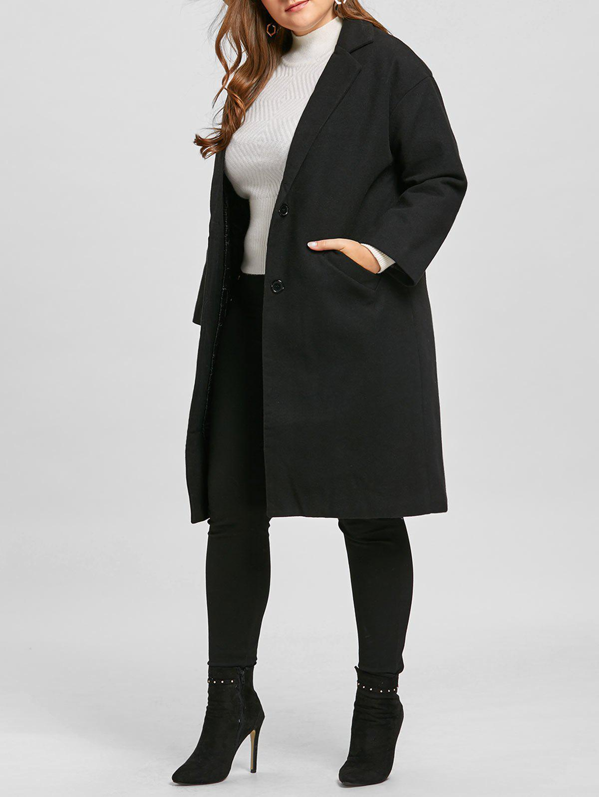 Latest Long Plus Size Button Up Coat