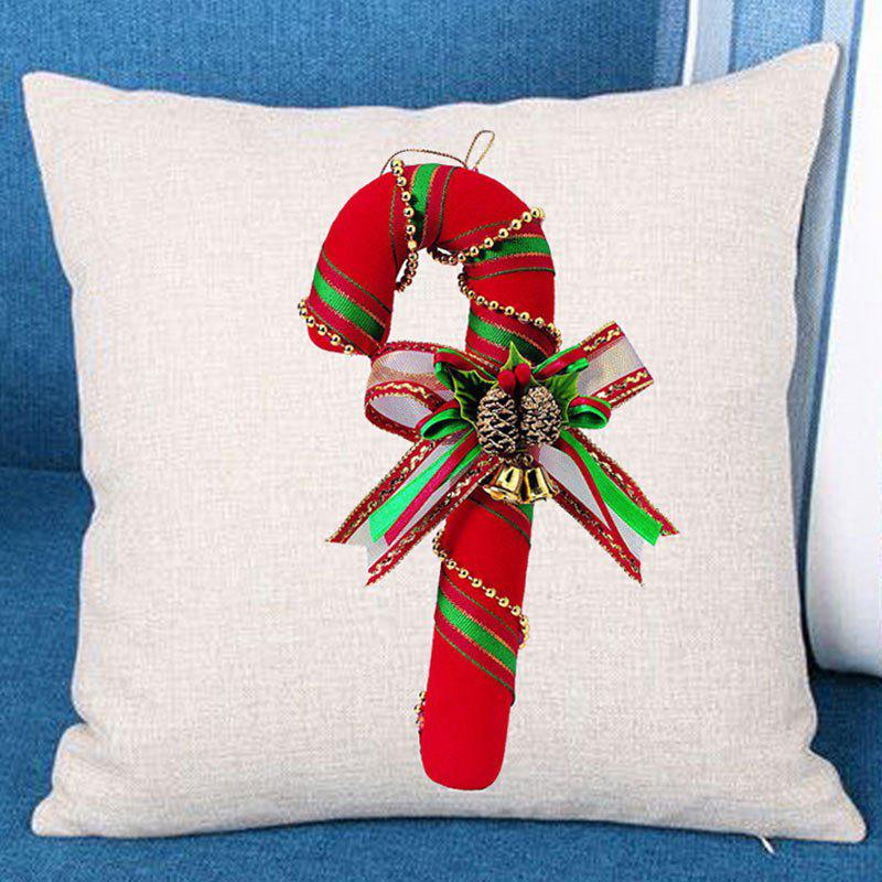 Buy Christmas Candy Cane Patterned Throw Pillow Case