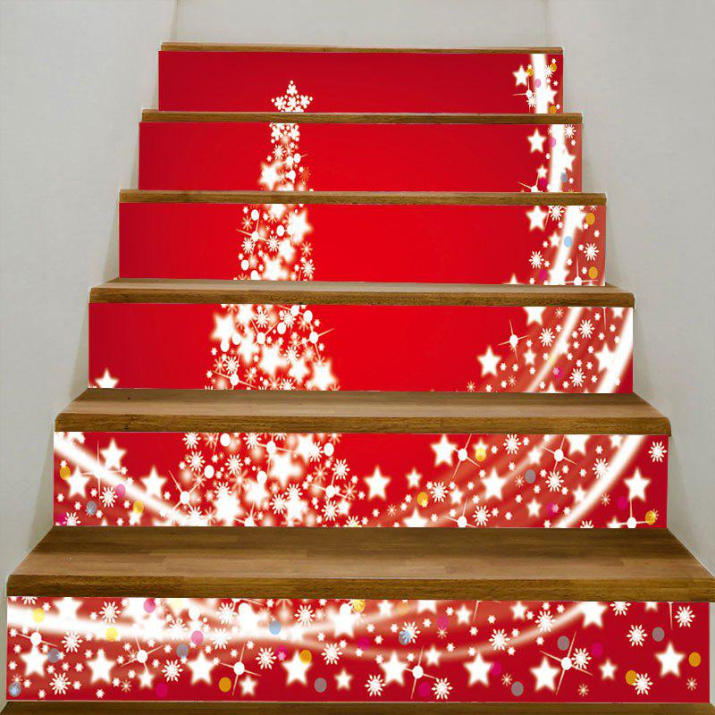 Starlight Christmas Tree Pattern Home Decoration Stair StickersHOME<br><br>Size: 100*18CM*6PCS; Color: COLORFUL; Wall Sticker Type: Plane Wall Stickers; Functions: Stair Stickers; Theme: Christmas; Pattern Type: Christmas Tree,Star; Material: PVC; Feature: Removable; Weight: 0.3100kg; Package Contents: 6 x Stair Stickers (Pcs);