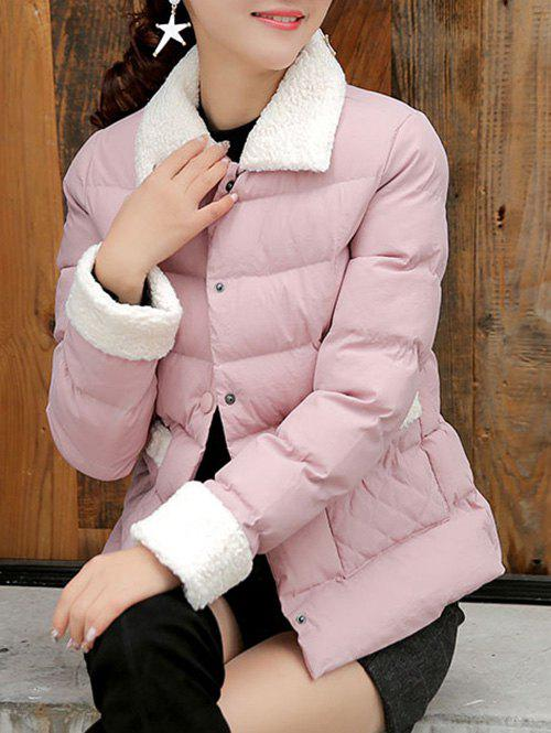 Discount Button Up Quilted Jacket