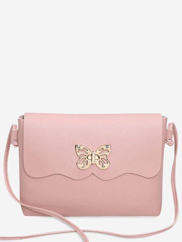 Outfit PU Leather Metal Embellished Butterfly Crossbody Bag