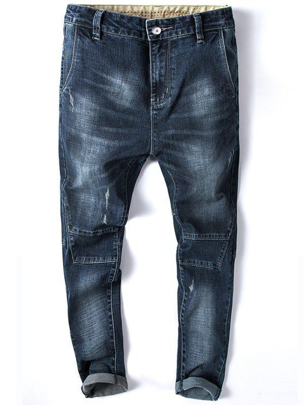 New Tapered Fit Zip Fly Whisker Jeans