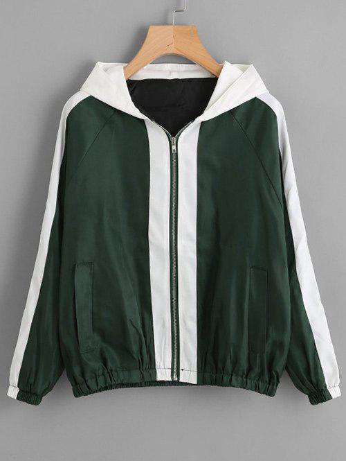 New Letter Print Zipper Baseball Jacket