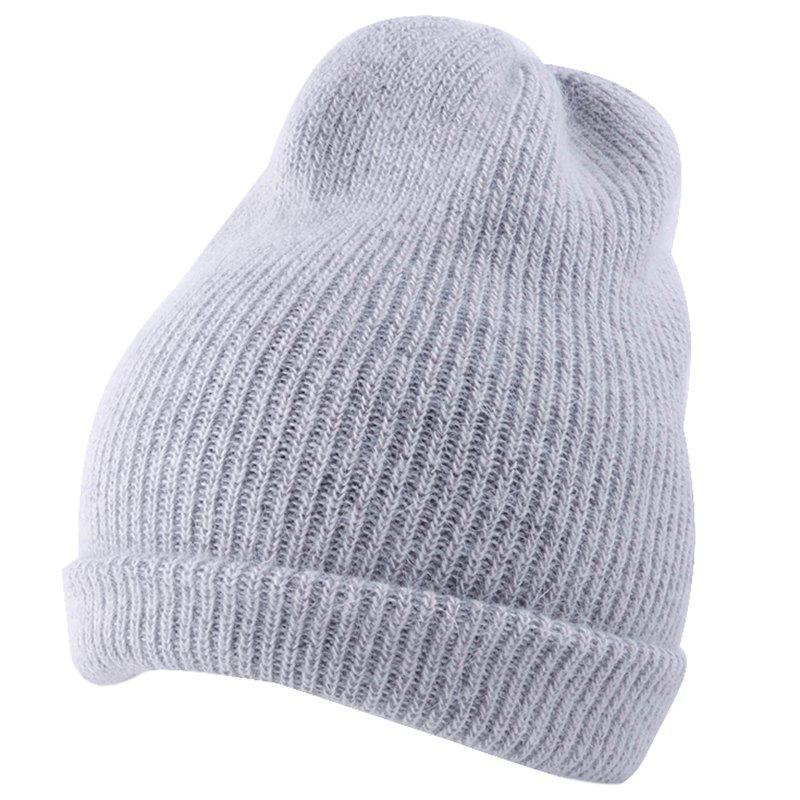 Cheap Flanging Embellished Knitted Lightweight Beanie
