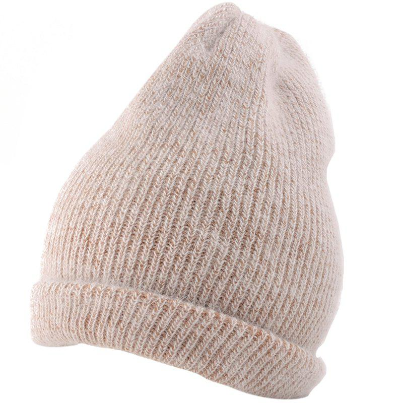 New Flanging Embellished Knitted Lightweight Beanie