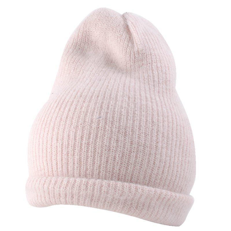 13629a2c843 2019 Flanging Embellished Knitted Lightweight Beanie