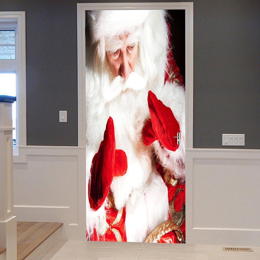 Shop Christmas Santa Pattern Door Cover Stickers