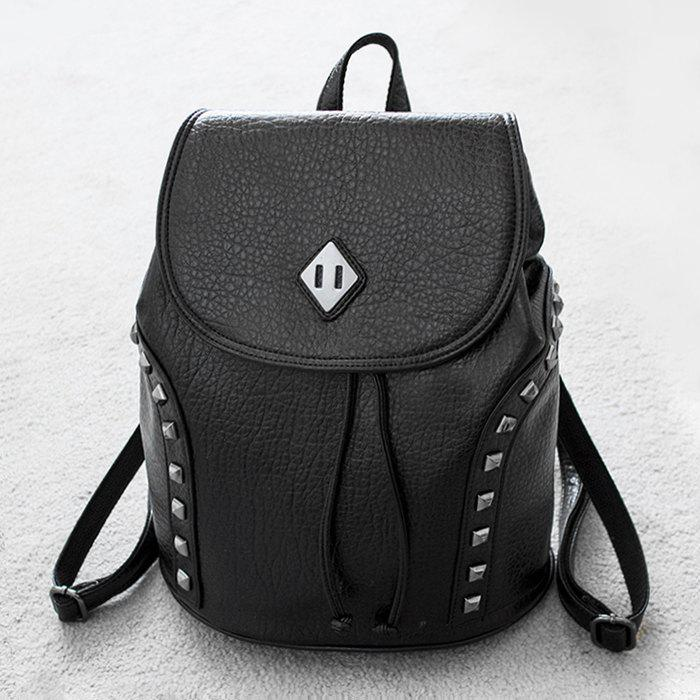 Best PU Leather Rivets Backpack