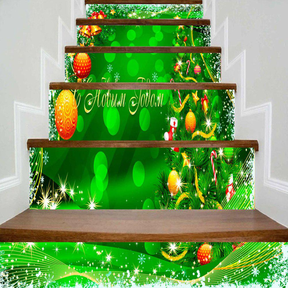 Christmas Tree Balls.Christmas Tree Balls Snowflake Printed Diy Stair Stickers