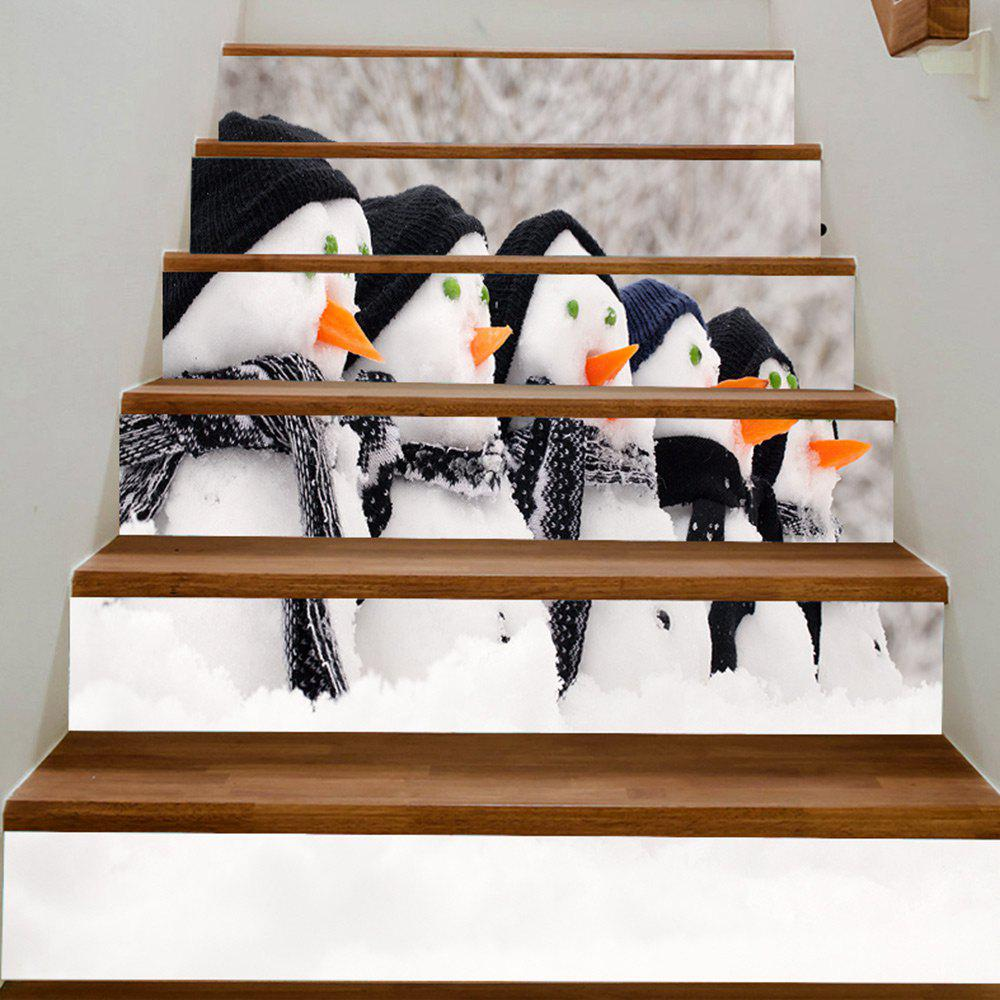 Buy Christmas Snowman Reusable DIY Stair Stickers