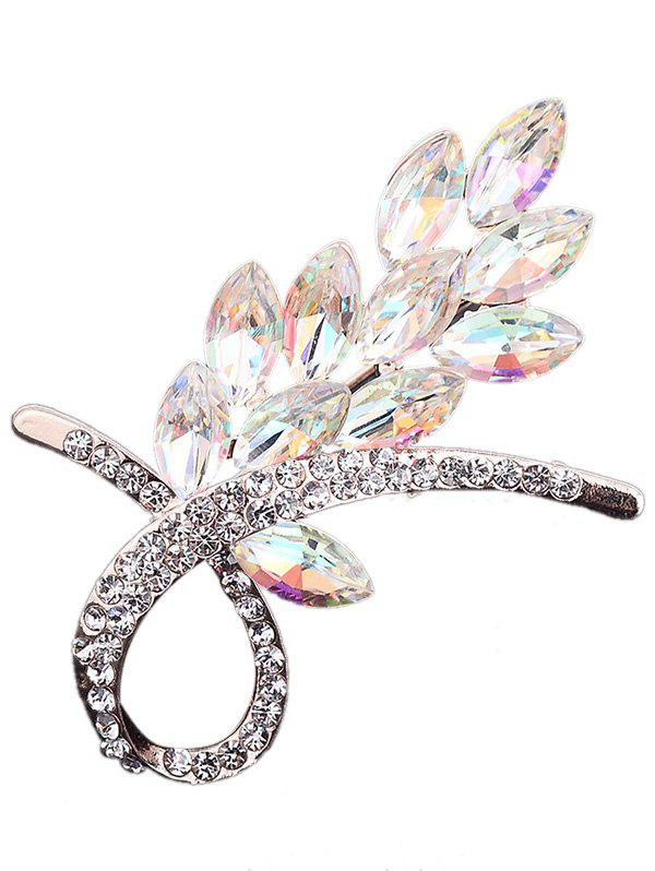 Outfits Rhinestone Faux Crystal Flower Brooch