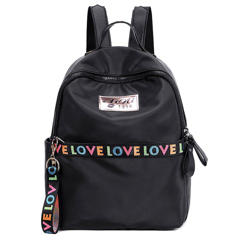 Affordable Zip Print Letter Backpack With Handle