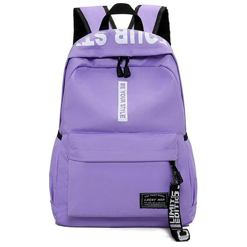 Trendy Letter Print Multi Function Backpack
