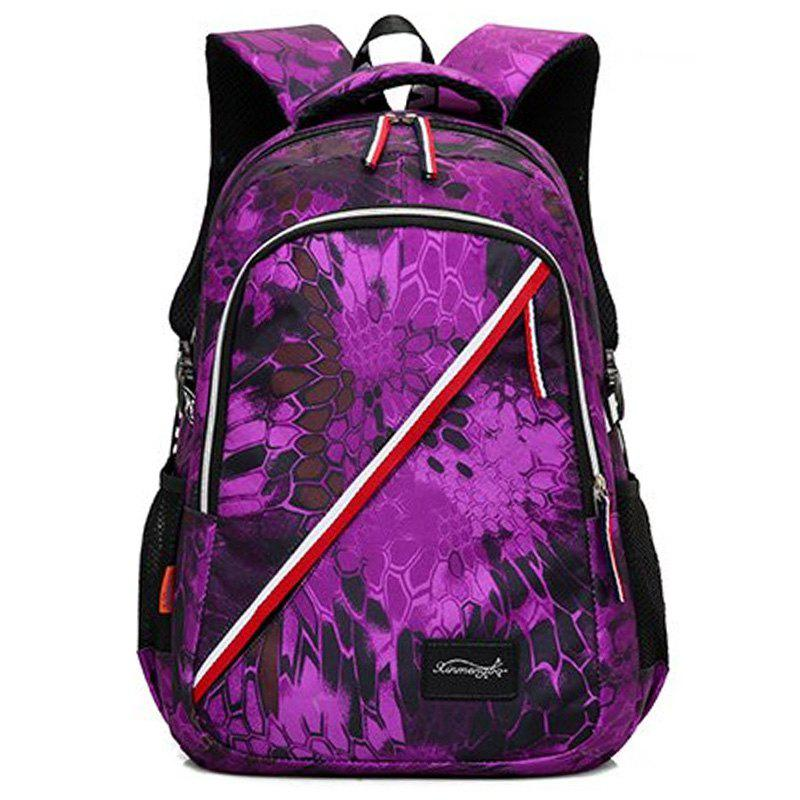 Online Striped Print Flower Backpack