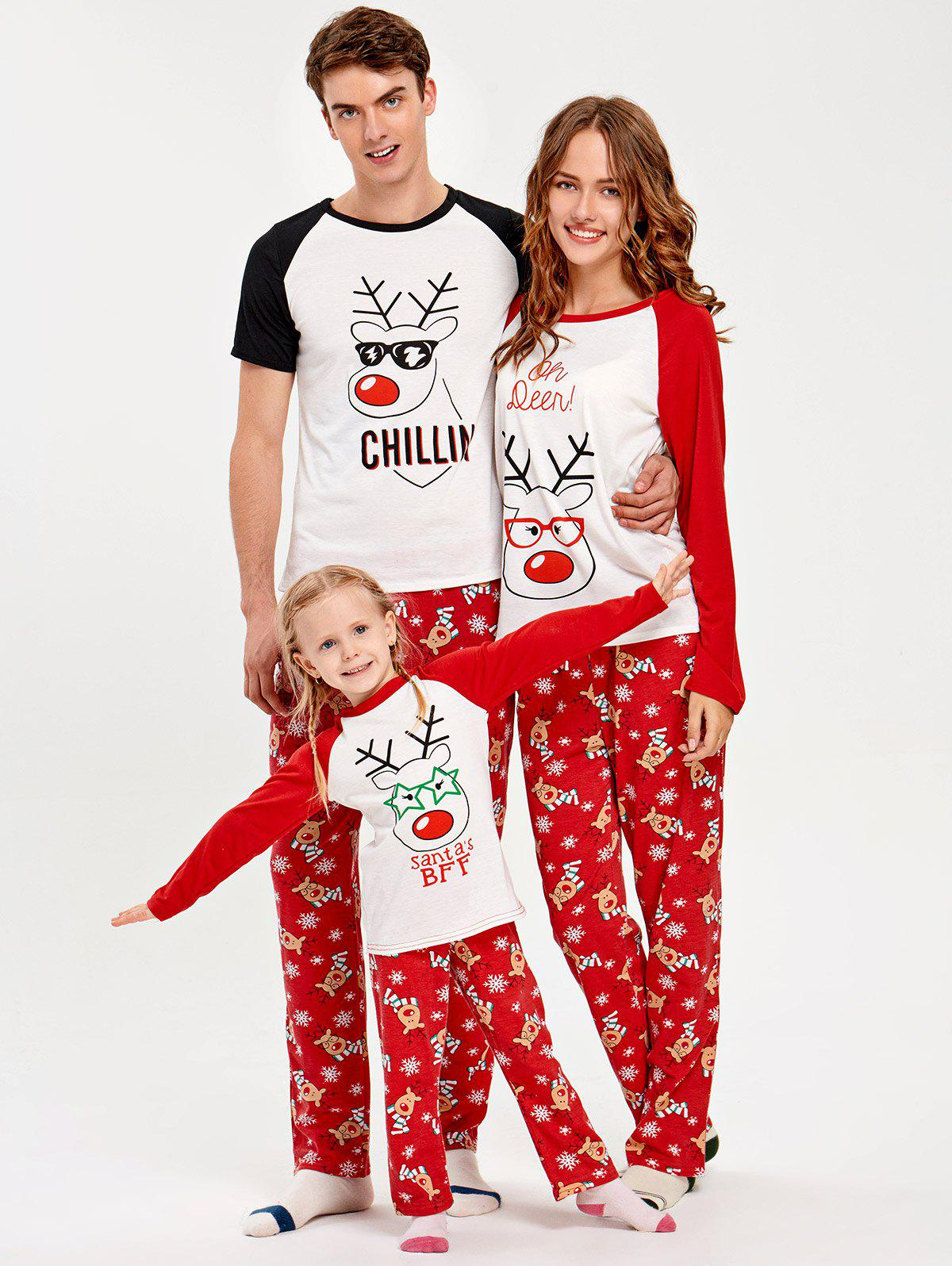 a1e3b336473e 2019 Deer Rudolph Matching Family Christmas Pajama Set