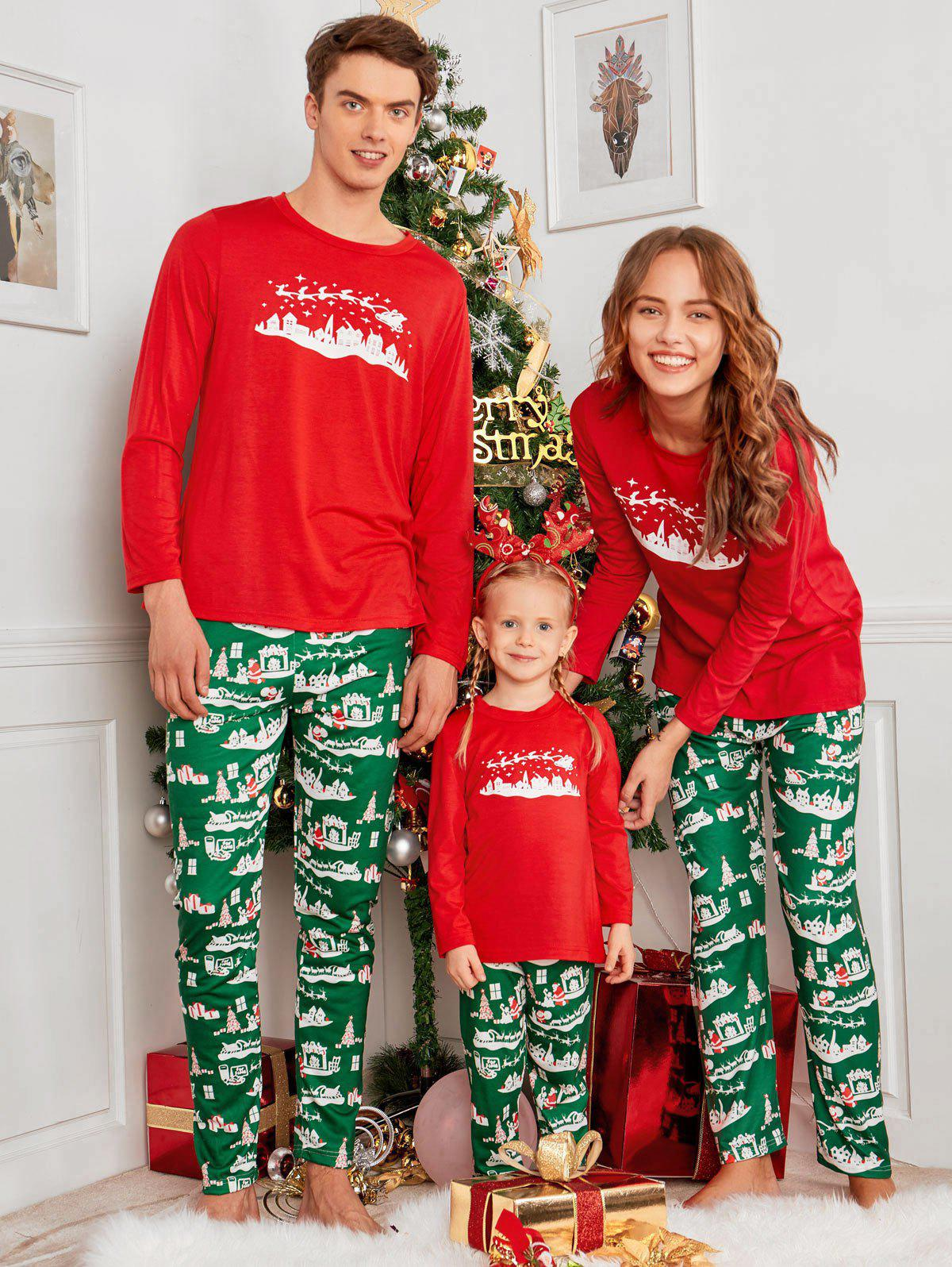 Unique City Print Family Christmas Pajama Set