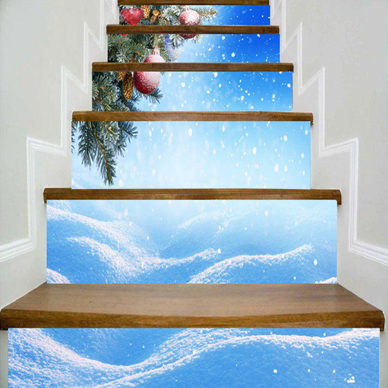 Online Snowy Christmas Printed Decorative DIY Stair Stickers