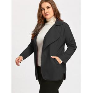 Col roulé Manches Turndown Collar Plus Size Trench -