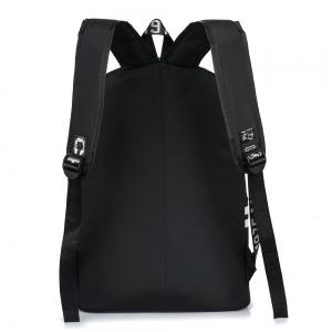 Color Block Letter Print Nylon Backpack -