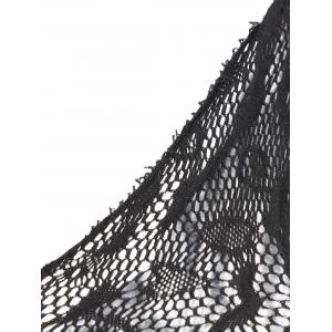 Fishnet One Shoulder Lingerie Dress -