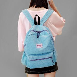 Double Side Pockets Letter Print Backpack -