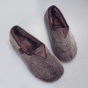 Slip On Round Toe Chaussures plates en fausse fourrure -