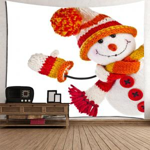 Wall Art Winter Christmas Snowman Pattern Tapestry -