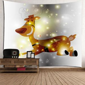 Decorative Running Elk Pattern Hanging Wall Decor Tapestry -