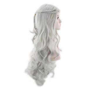 Perruque Synthétique Longue Ondulée Style Cosplay avec Tresses -