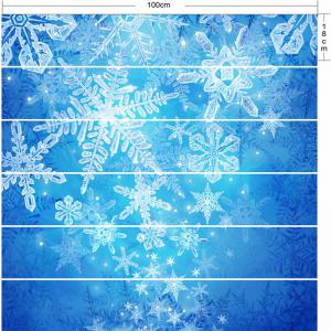 Christmas Snowflake Printed Removable Stair Stickers -