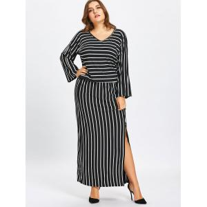 Stripe Top and Pencil Skirt Twinset -