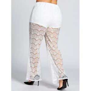 High Waist Plus Size Sheer Lace Pants -