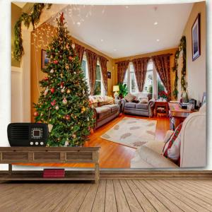 Wall Decor Living Room Christmas Tree Printed Tapestry -