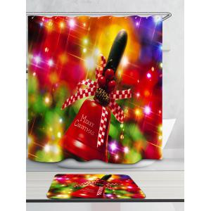 Waterproof Christmas Handbell Printed Shower Curtain -