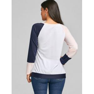 Color Block Raglan Long Sleeve Top -