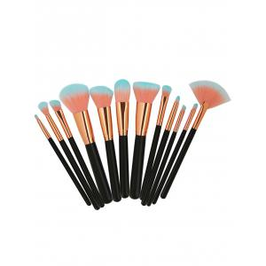 12 Pcs Deux Tons Poils Maquillage Brosses Set -