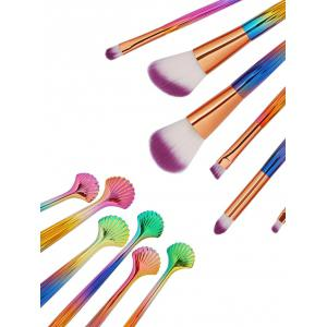 6 Pcs Shell Makeup Brush Set -