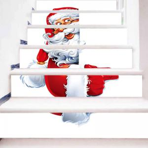 Santa Claus Printed Christmas Decor Stair Stickers -